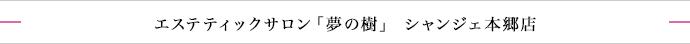 エステティックサロン「夢の樹」シャンジェ本郷店